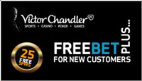 It's n no joke, a free bet for all new customers. Only at Victor Chandler!